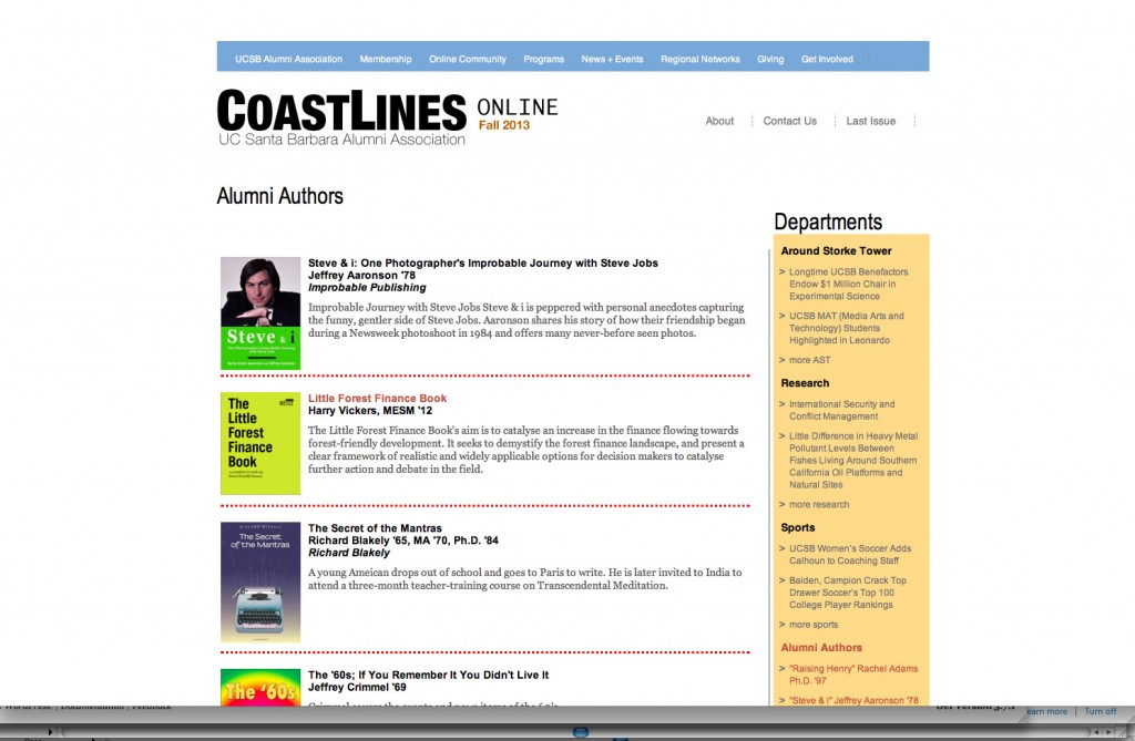Coastlines Fall 2013